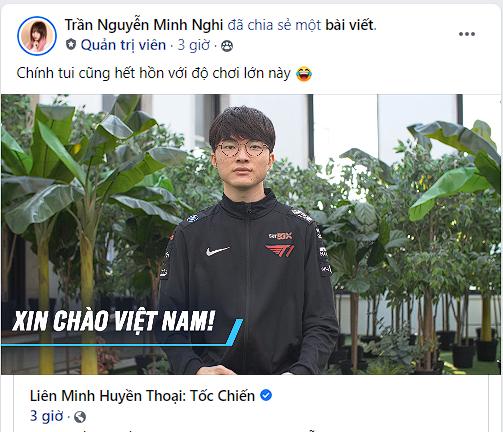 Minh Nghi hết hồn khi chủ tịch Faker nói câu tiếng Việt, gạ game thủ trao đổi chiêu thức Tốc Chiến - Ảnh 4.