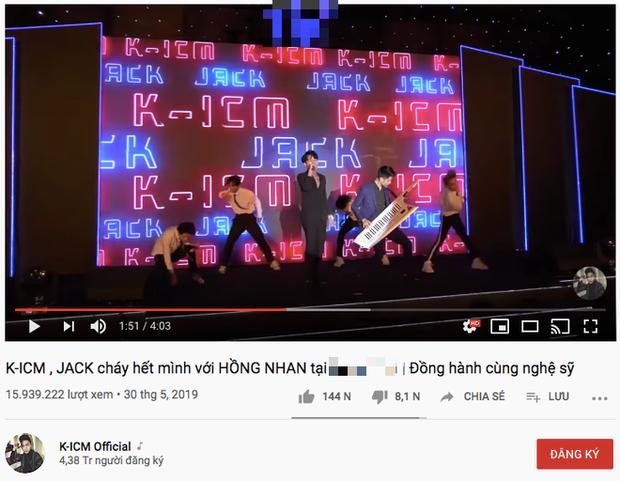 Fan vừa đăng tải clip live Hồng Nhan của Jack đã bị dính gậy bản quyền từ công ty của K-ICM? - Ảnh 4.