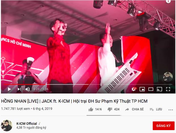 Fan vừa đăng tải clip live Hồng Nhan của Jack đã bị dính gậy bản quyền từ công ty của K-ICM? - Ảnh 5.