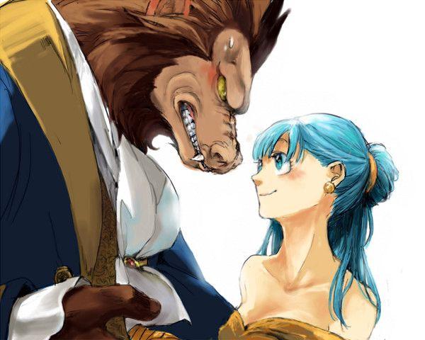 Ngỡ ngàng khi dàn nhân vật Dragon Ball gia nhập thế giới Disney, Vegeta hóa quái thú bên cạnh công chúa Bulma - Ảnh 1.