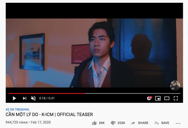 Teaser MV mới của K-ICM lên top 2 trending, lượng dislike gấp 10 lần like, cộng đồng mạng thi nhau spam bình luận From Jack with love - Ảnh 2.