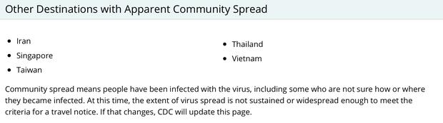 Giữa dịch virus corona, CDC Mỹ đưa Việt Nam vào danh sách có biểu hiện lây lan trong cộng đồng có nghĩa là gì? - Ảnh 5.