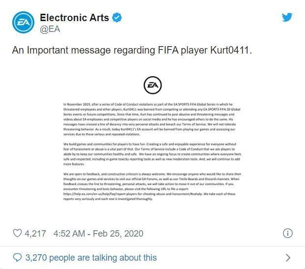 Chửi bậy khi livestream, game thủ nổi tiếng nhất nhì cộng đồng FIFA 20 bị EA cấm vĩnh viễn cả đời - Ảnh 3.