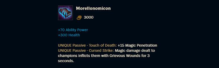Quỷ Thư Morello thực chất là item vô cùng tệ nhưng do Riot 'xô đẩy ...