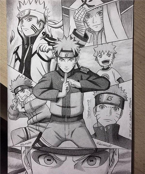 Loạt fan art Naruto toát lên vẻ ma mị đầy cuốn hút khiến người xem không thể rời mắt - Ảnh 11.