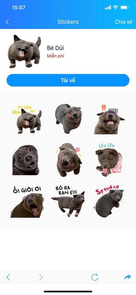 Ngoạn mục như idol Nguyễn Văn Dúi, được lấy cả hình ảnh để làm bộ sticker trên Zalo, fan đòi hỏi Bao giờ Facebook mới có - Ảnh 2.