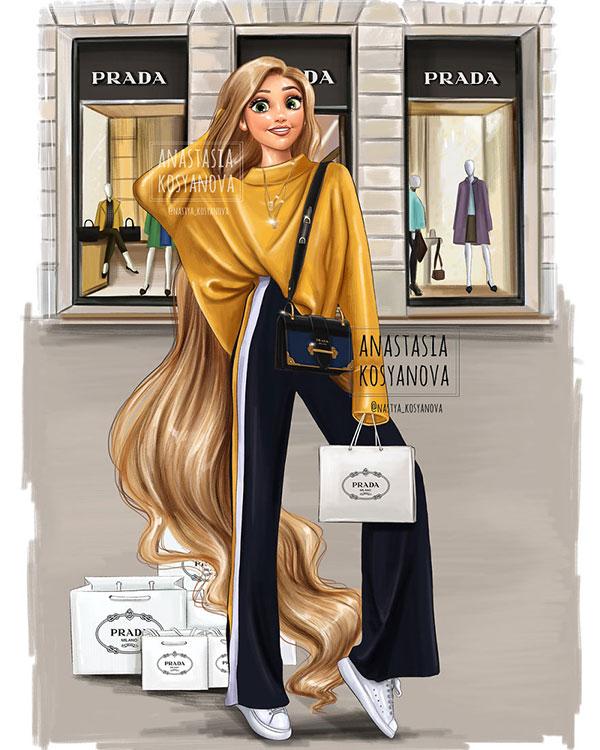 Công chúa Disney trông thật đẳng cấp và sành điệu khi diện trang phục của những thương hiệu xa xỉ - Ảnh 9.
