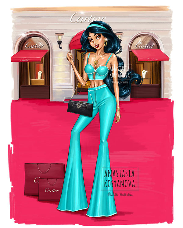 Công chúa Disney trông thật đẳng cấp và sành điệu khi diện trang phục của những thương hiệu xa xỉ - Ảnh 16.