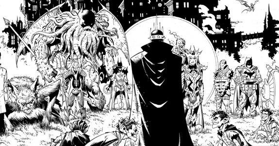Tạo hình mới của Batman Who Laughs với chiếc vương miện có nét tương đồng với Chúa tể Bóng tối Sauron khét tiếng trong Chúa Nhẫn.