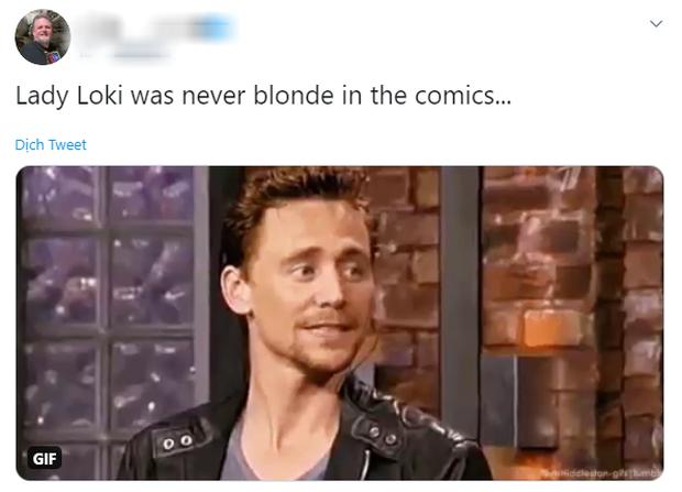 """""""Tóc của Loki nữ trong truyện tranh không bao giờ là màu vàng hoe cả."""""""