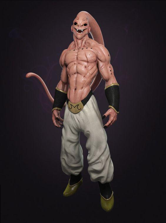 Dragon Ball: Kinh hãi khi thấy ác nhân Majin Buu được vẽ theo phong cách kinh dị - Ảnh 2.