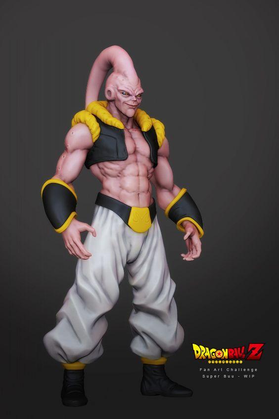 Dragon Ball: Kinh hãi khi thấy ác nhân Majin Buu được vẽ theo phong cách kinh dị - Ảnh 3.