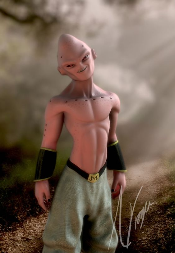 Dragon Ball: Kinh hãi khi thấy ác nhân Majin Buu được vẽ theo phong cách kinh dị - Ảnh 4.