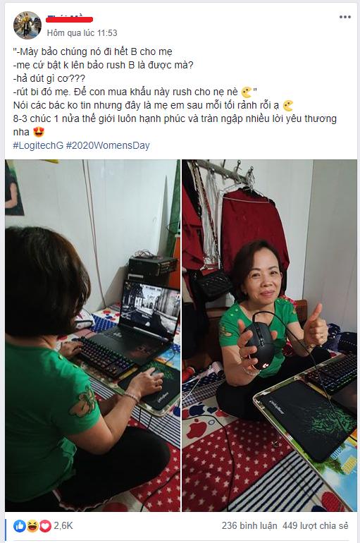 Sắm chuột xịn làm quá 8/3 tặng mẹ để try hard CS:GO - Ảnh 1.