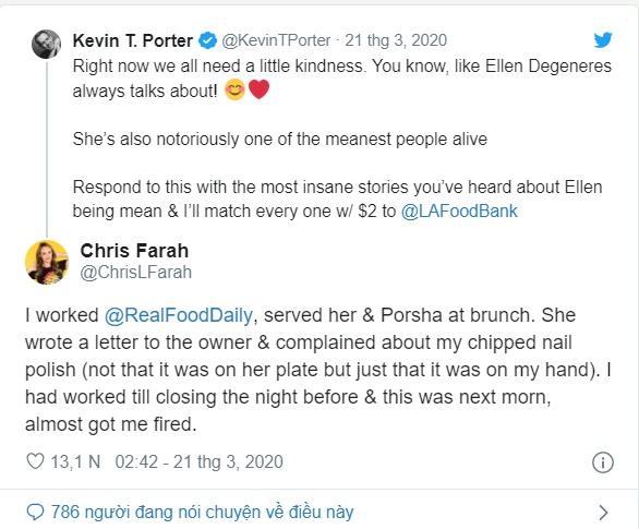 Twitter chao đảo với những câu chuyện vạch trần bà hoàng Talkshow Ellen DeGeneres - Ảnh 3.