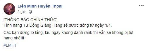 Đến lượt LMHT Việt Nam cũng tạm khóa tính năng Tự Động Giáng Hạng, game thủ yên tâm nghỉ ngơi mùa dịch - Ảnh 1.
