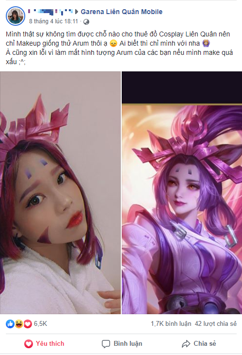 """Cô gái Việt cosplay Arum cực xinh khiến cộng đồng Liên Quân Mobile """"loạn cào cào"""" trong đêm - Ảnh 1."""