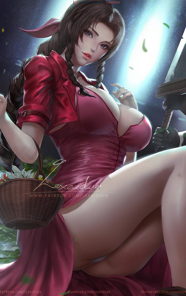 Loạt tranh đầy nóng bỏng về Aerith, hồng nhan bạc phận của Final Fantasy VII - Ảnh 13.