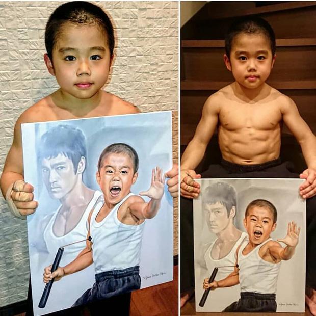 Ngỡ ngàng trước truyền nhân nhí của Lý Tiểu Long: Mới 10 tuổi đã sở hữu 6 múi cực phẩm, khả năng võ thuật tới Chân Tử Đan cũng phải chào thua - Ảnh 1.