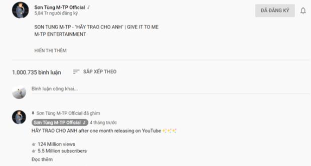 Jack tiếp tục vượt mặt Sơn Tùng M-TP, trở thành nam ca sĩ sở hữu MV 1 triệu bình luận nhanh nhất lịch sử Vpop! - Ảnh 4.