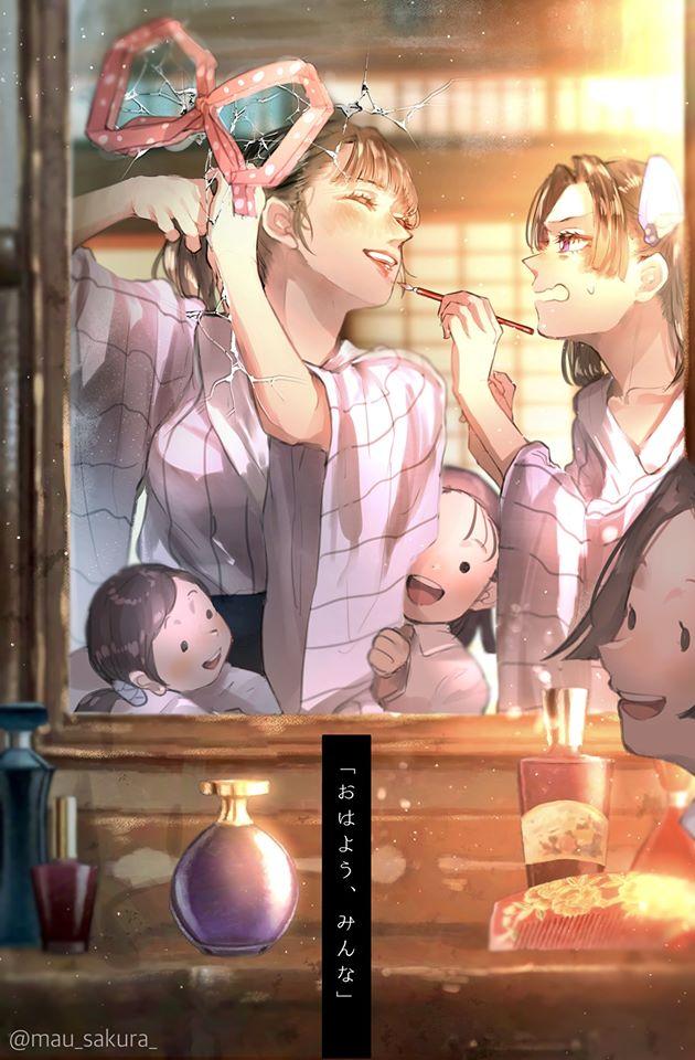 Bỗng dưng muốn khóc khi chiêm ngưỡng loạt fan art đầy cảm xúc về các nhân vật Kimetsu no Yaiba - Ảnh 21.