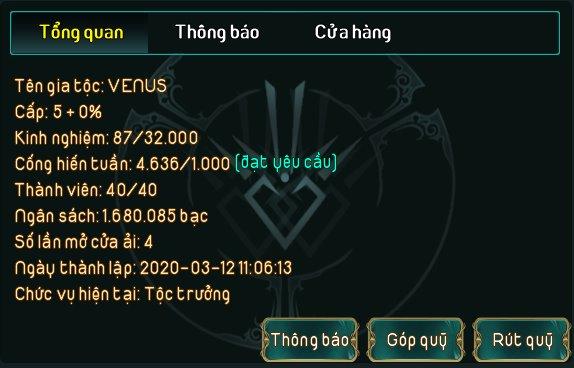 """Đông đảo, hung hãn, gặp người là… cướp, đến Top server còn """"xoắn"""": Gia tộc Venus """"nổi"""" nhất Dấu Ấn Rồng? - Ảnh 11."""