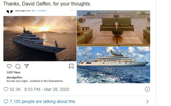 Tỷ phú Mỹ khoe ảnh cách ly trên du thuyền hơn nửa tỷ đô - Ảnh 1.