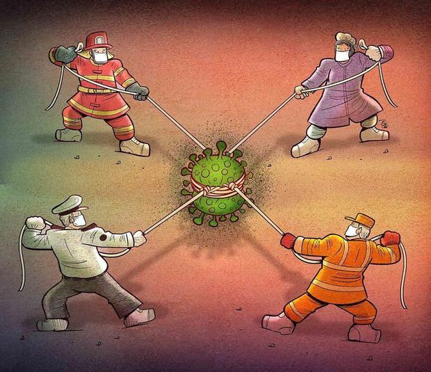 Bộ tranh ấn tượng về những người tuyến đầu chống Covid-19: Dù virus là kẻ thù vô hình nhưng cuộc chiến vẫn quá tàn nhẫn và có nhiều sự hy sinh! - Ảnh 8.