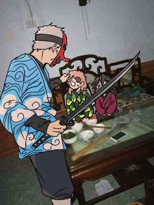 Giải khuây những ngày dài ở nhà trốn dịch với loạt ảnh tấu hài của các nhân vật Kimetsu no Yaiba - Ảnh 22.