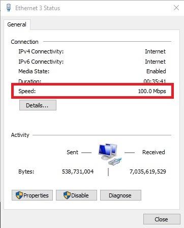 Hướng dẫn kiểm tra tốc độ card mạng của PC trên Windows 10 - Ảnh 3.