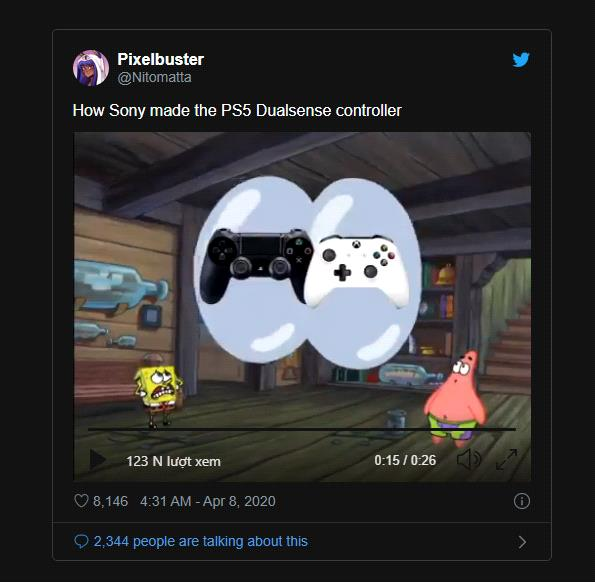 After launching, PS5's DualSense controller became the hottest meme in the past 24 hours - Photo 6.