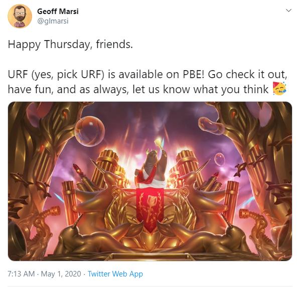 Riot chính thức mang trở lại URF chọn tướng, báo hiệu cho sự kiện siêu khủng mới sắp cập bến LMHT - Ảnh 3.