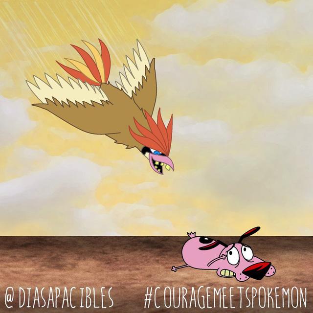 Loạt ảnh hài hước khi chú chó Courage gặp gỡ Pokémon, trông chẳng khác gì phim kinh dị - Ảnh 17.