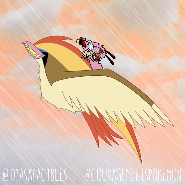 Loạt ảnh hài hước khi chú chó Courage gặp gỡ Pokémon, trông chẳng khác gì phim kinh dị - Ảnh 18.