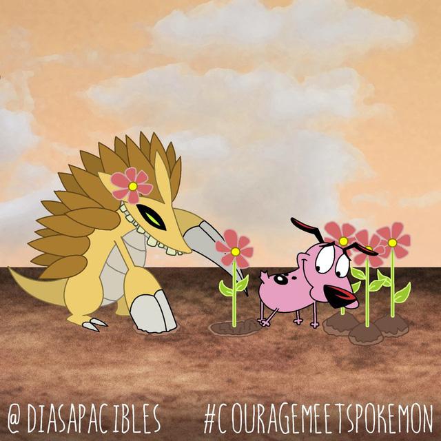 Loạt ảnh hài hước khi chú chó Courage gặp gỡ Pokémon, trông chẳng khác gì phim kinh dị - Ảnh 28.