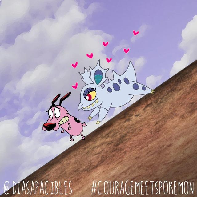 Loạt ảnh hài hước khi chú chó Courage gặp gỡ Pokémon, trông chẳng khác gì phim kinh dị - Ảnh 30.