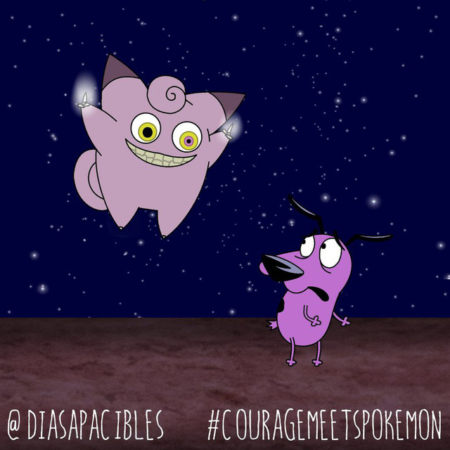 Loạt ảnh hài hước khi chú chó Courage gặp gỡ Pokémon, trông chẳng khác gì phim kinh dị - Ảnh 35.