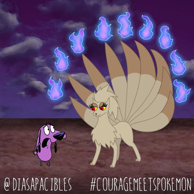Loạt ảnh hài hước khi chú chó Courage gặp gỡ Pokémon, trông chẳng khác gì phim kinh dị - Ảnh 38.