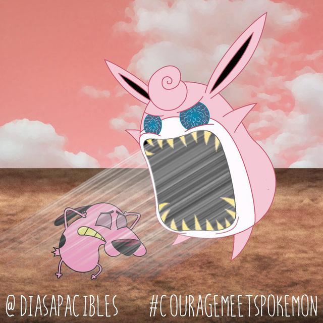 Loạt ảnh hài hước khi chú chó Courage gặp gỡ Pokémon, trông chẳng khác gì phim kinh dị - Ảnh 40.