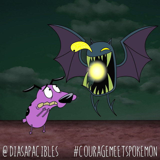 Loạt ảnh hài hước khi chú chó Courage gặp gỡ Pokémon, trông chẳng khác gì phim kinh dị - Ảnh 42.