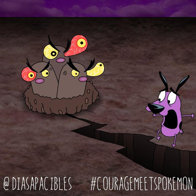 Loạt ảnh hài hước khi chú chó Courage gặp gỡ Pokémon, trông chẳng khác gì phim kinh dị - Ảnh 51.