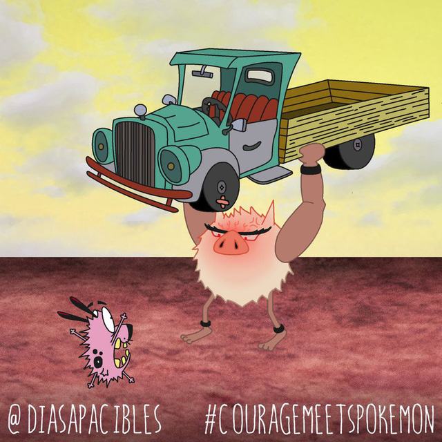 Loạt ảnh hài hước khi chú chó Courage gặp gỡ Pokémon, trông chẳng khác gì phim kinh dị - Ảnh 57.