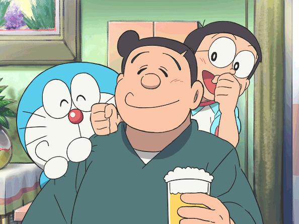 Loạt tranh Doraemon và gia đình Nobi dành cho hội fan mèo máy - Ảnh 4.