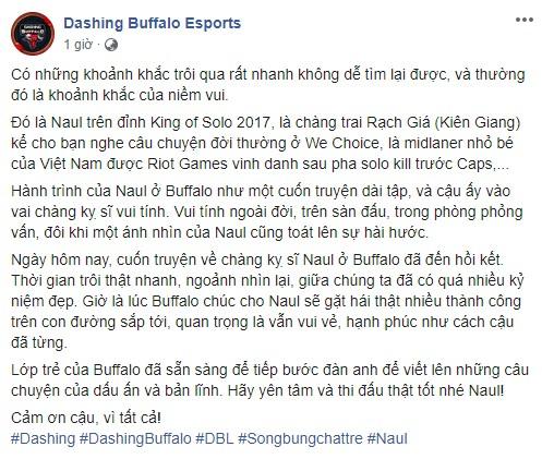 Chính thức: Naul chia tay Dashing Buffalo, dấu chấm hết cho đội hình huyền thoại Young Generation - Ảnh 1.