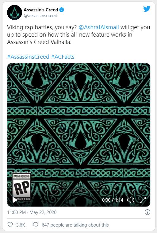 """Lần đầu tiên trong lịch sử, Assassin's Creed: Valhalla sẽ cho phép game thủ thi đấu """"Rap Battle"""" - Ảnh 1."""