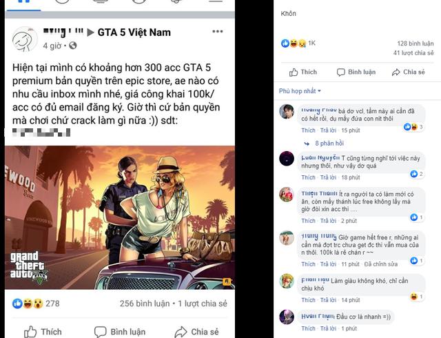 Lấy 300 acc GTA V miễn phí rồi đem bán, game thủ Việt gặp bão gạch đá từ cộng đồng - Ảnh 1.