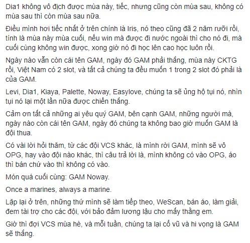 HLV Tinikun viết tâm thư chia tay GAM, hé lộ việc tự bỏ tiền túi mua Palette, gọi Noway là món quà cuối cùng - Ảnh 3.