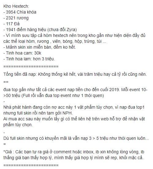 Nạp cả tỉ đồng, chủ tài khoản LMHT khủng bậc nhất Việt Nam bất ngờ tuyên bố nghỉ game vì bị mất tên ingame - Ảnh 3.