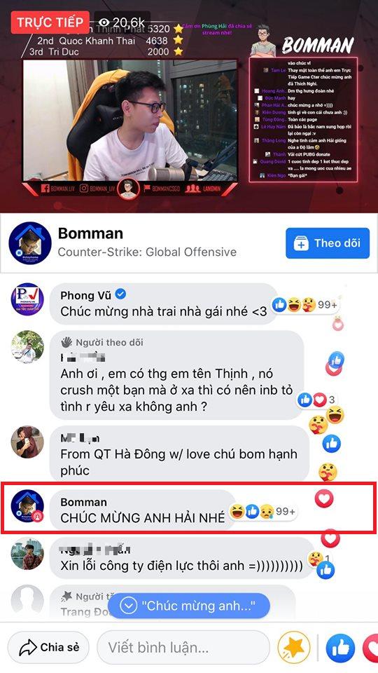 Kênh stream hóa Đại hội võ lâm, cả diễn viên Ninh Dương Lan Ngọc cũng chúc mừng đôi trẻ Bomman - Minh Nghi - Ảnh 5.