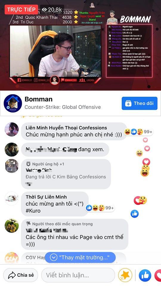 Kênh stream hóa Đại hội võ lâm, cả diễn viên Ninh Dương Lan Ngọc cũng chúc mừng đôi trẻ Bomman - Minh Nghi - Ảnh 4.